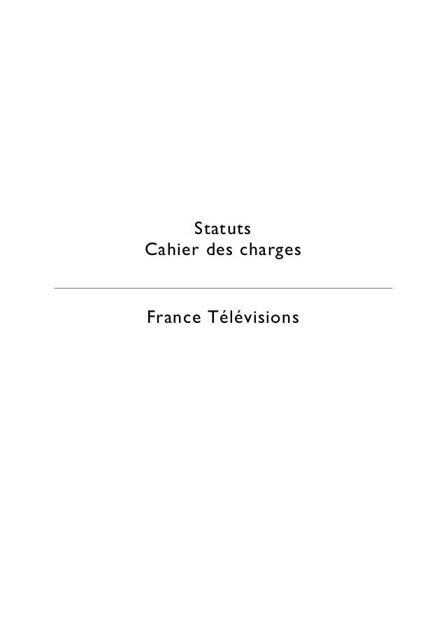 Cahiers de charges France télévisions Slide 3