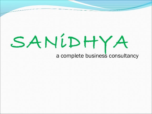 SANiDHYA   a complete business consultancy