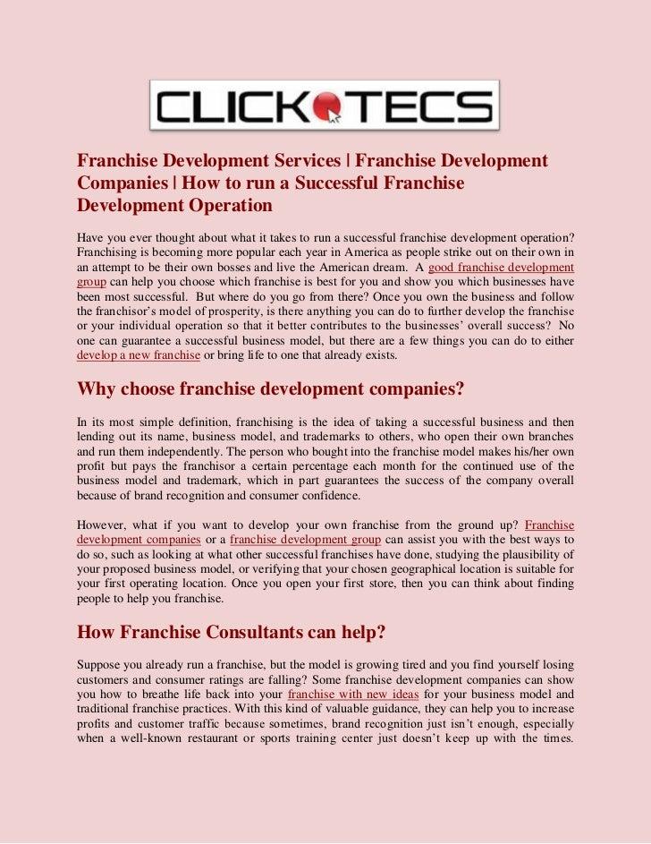 Franchise Development Services | Franchise DevelopmentCompanies | How to run a Successful FranchiseDevelopment OperationHa...