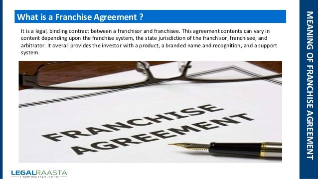 Franchise agreement | format | template | Legalraasta