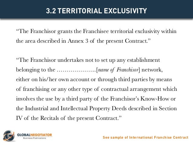 International Franchise Contract - Contract Template And Sample