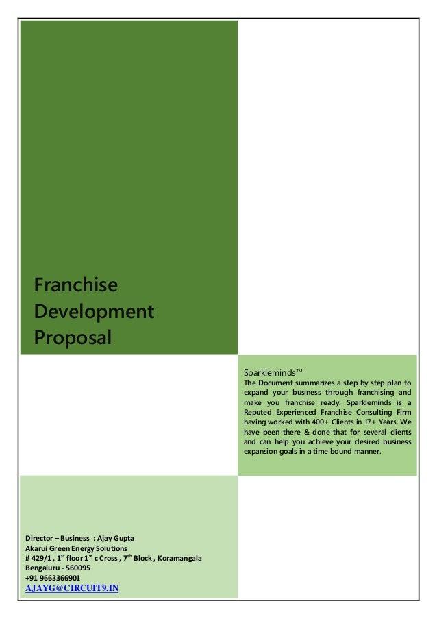 franchise business plan proposal franchise