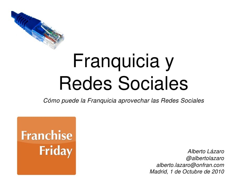 Franchise friday - Franquicias y redes sociales