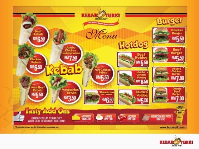 Franchise Proposal Kebab Turki Baba Rafi Malaysia