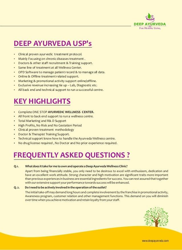 Deep Ayurveda Franchise proposal