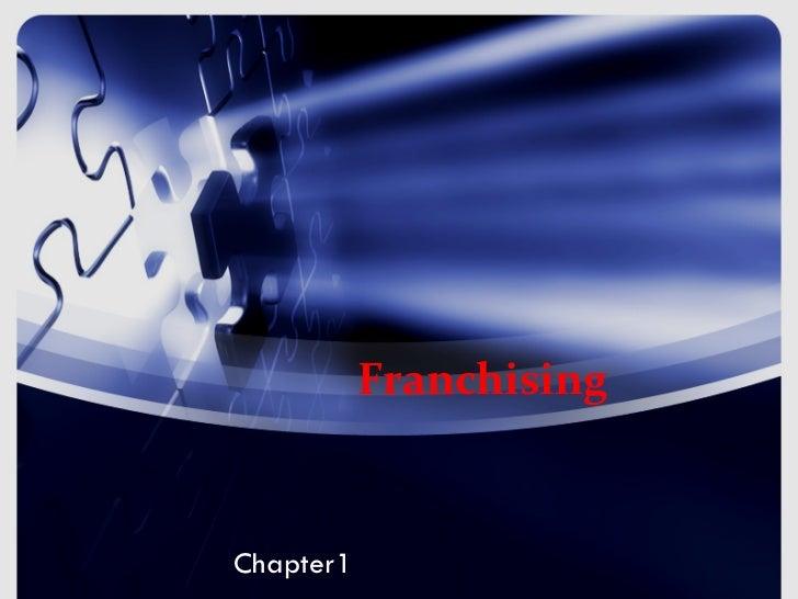 FranchisingChapter1