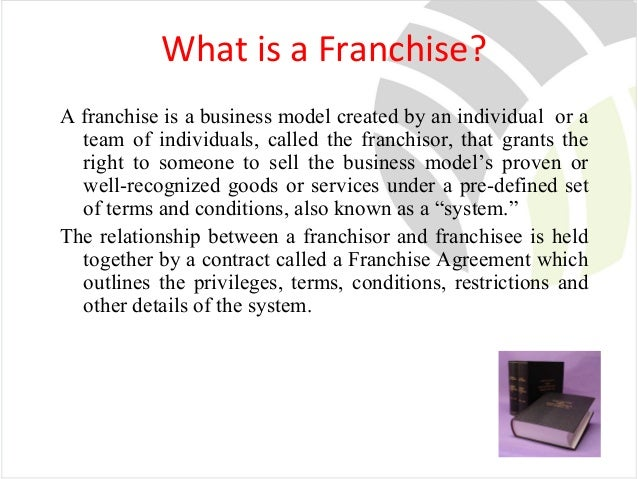 what is a franchise Franchise a special privilege to do certain things that is conferred by government on an individual or a corporation and which does not belong to citizens generally of common right, eg, a right granted to offer cable television service.