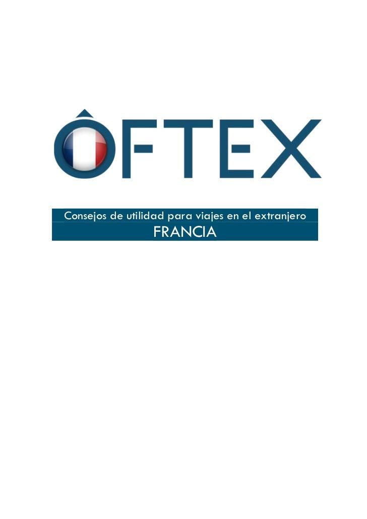 Consejos de utilidad para viajes en el extranjero                  FRANCIA