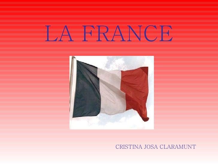 LA FRANCE CRISTINA JOSA CLARAMUNT