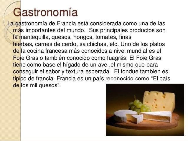 Francia for Caracteristicas de la gastronomia francesa