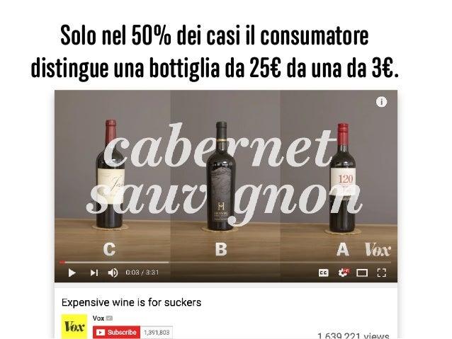 Solo nel 50% dei casi il consumatore distingue una bottiglia da 25€ da una da 3€.