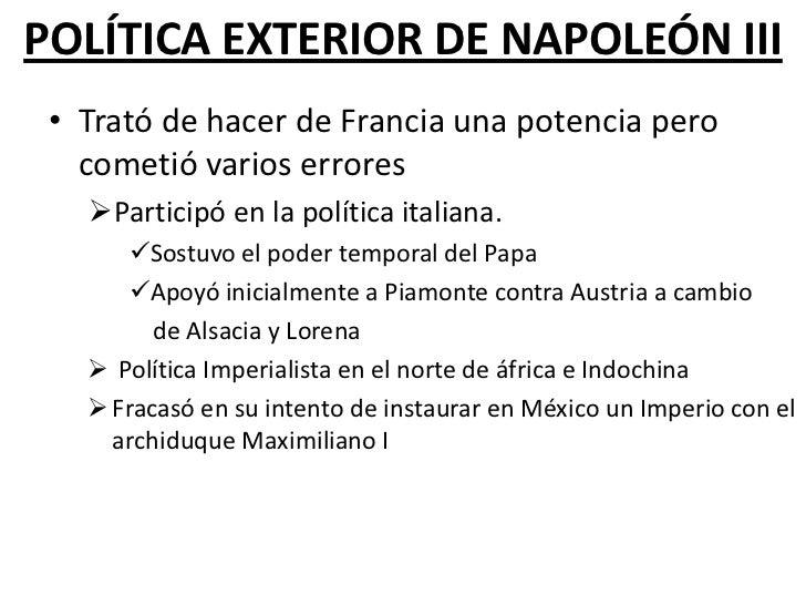Francia durante el ii imperio for La politica exterior de espana