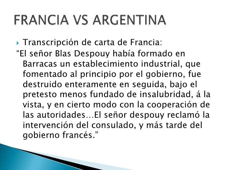 """Transcripción de carta de Francia:<br />""""El señor Blas Despouy había formado en Barracas un establecimiento industrial, qu..."""