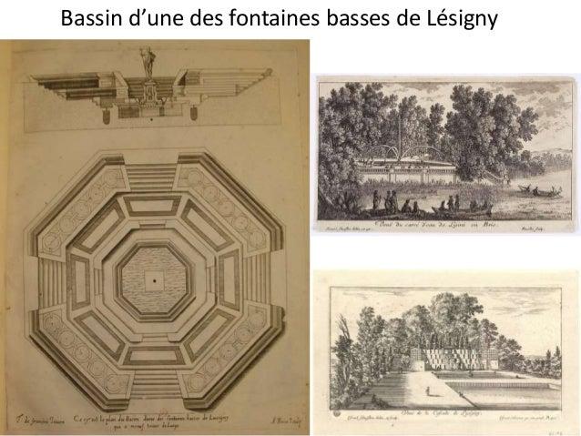 1628 Etienne Brioys emploie Tommaso à Bagnolet  (canal et adduction des eaux)  Dessin copié d'après l'Amphitrite  de bronz...