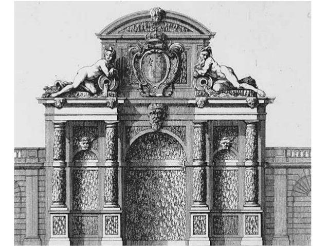 …une figure représentant une Médicis…, de laquelle ruine  sort encorre une source d'eau qui coulle par un petit canal ou  ...