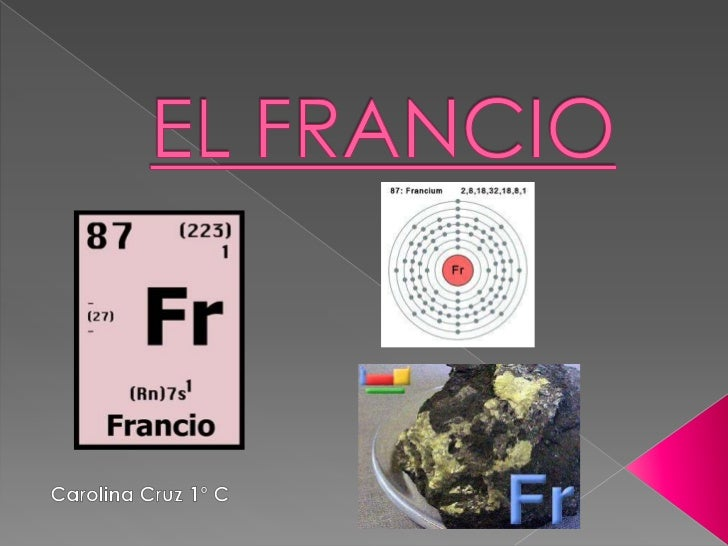 EL FRANCIO<br />Carolina Cruz 1º C<br />