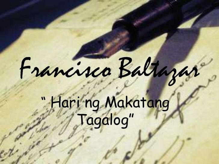 "Francisco Baltazar<br />""HaringMakatangTagalog""<br />"