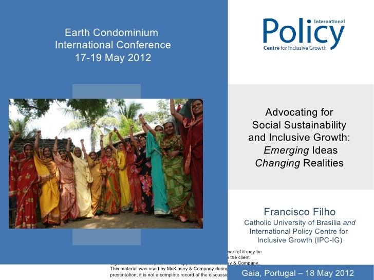 Earth CondominiumInternational Conference     17-19 May 2012           CONFIDENTIAL                                       ...