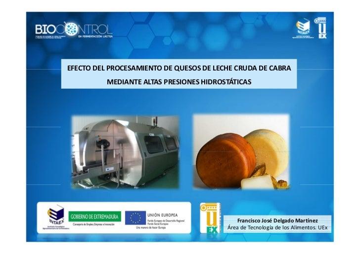 EFECTO DEL PROCESAMIENTO DE QUESOS DE LECHE CRUDA DE CABRA          MEDIANTE ALTAS PRESIONES HIDROSTÁTICAS                ...