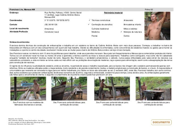Brugnera, Ana Carolina. Meio ambiente cultural da Amazônia brasileira : dos modos de vida a moradia do Caboclo Ribeirinho ...