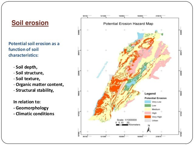 Status of soil resources in lebanon by roger francis for Types of soil resources