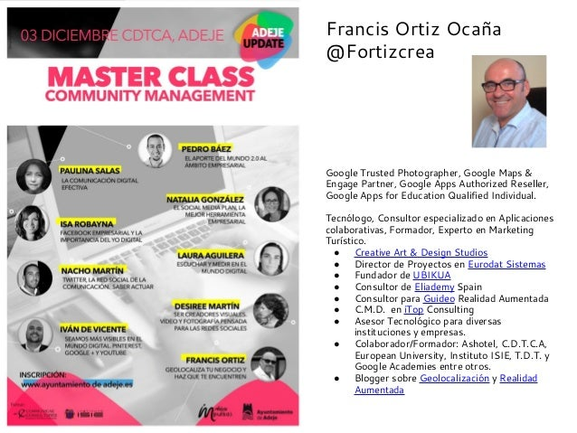 Francis Ortiz Ocaña @Fortizcrea  Google Trusted Photographer, Google Maps & Engage Partner, Google Apps Authorized Reselle...