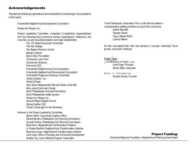 Moving francisville forward a blueprint for the future moving francisville forward a blueprint for the future 3 acknowledgements thankstothefollowingorganizationsandindividualsforcontributingto thepreparation malvernweather Image collections