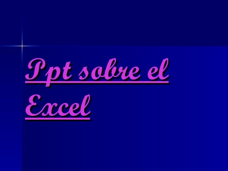 Ppt sobre elExcel