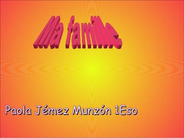 Paola Jémez Munzón 1EsoPaola Jémez Munzón 1Eso