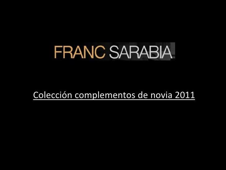Colección complementos de novia 2011