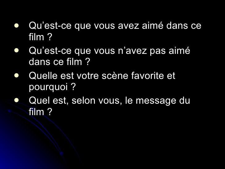 1. C'est grâce à ce film que nous avons découvert la merveilleuse voix d'Edith Piaf. 2. Nous n'avons pas ai...