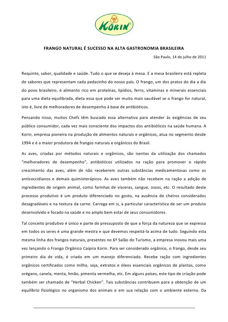 FRANGO NATURAL É SUCESSO NA ALTA GASTRONOMIA BRASILEIRA                                                                   ...