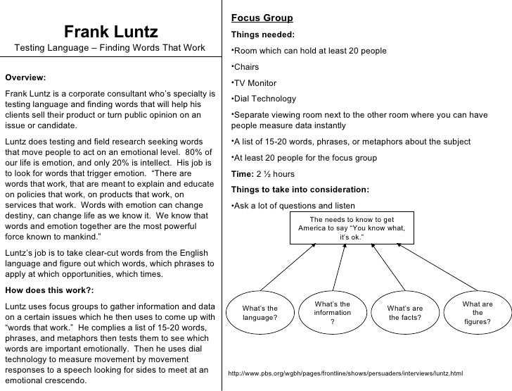 Frank Luntz Explains 'Words That Work' : NPR