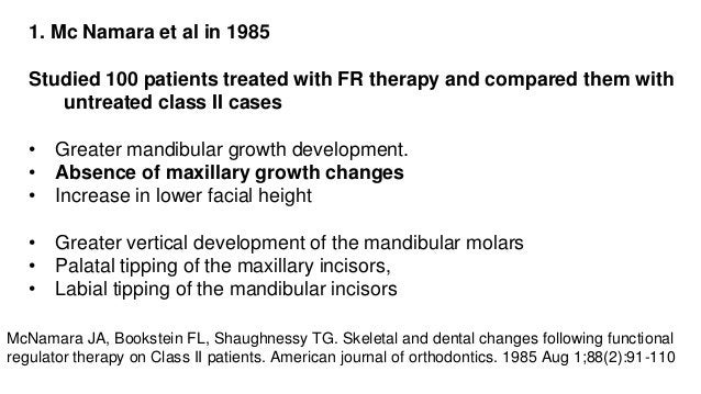 U S 2. Falck F, Fränkel in 1989 • Studied 120 patients undergoing FR II therapy • 60 pts : stepwise advancement • 60pts : ...