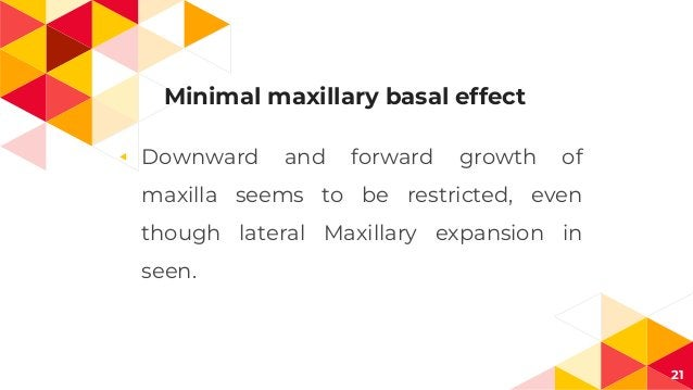 Minimal maxillary basal effect ◂ Downward and forward growth of maxilla seems to be restricted, even though lateral Maxill...