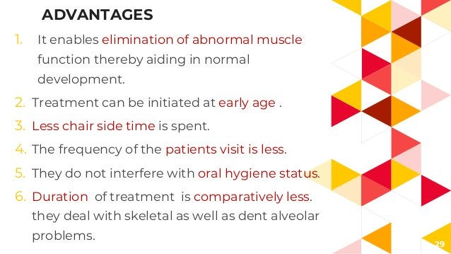 29 ADVANTAGES 1. It enables elimination of abnormal muscle function thereby aiding in normal development. 2. Treatment can...