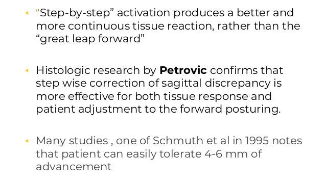 """◂ """"Step-by-step"""" activation produces a better and more continuous tissue reaction, rather than the """"great leap forward"""" ◂ ..."""