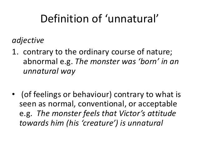 Image result for unnatural meaning
