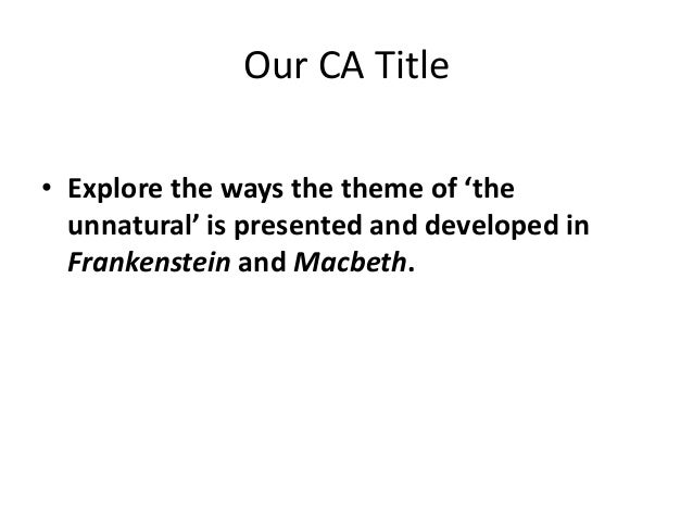 macbeth and frankenstein thesis Compare macbeth and frankenstein keyword essays and term papers available at echeatcom, the largest free essay community.