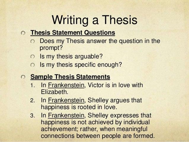 essay topics for frankenstein