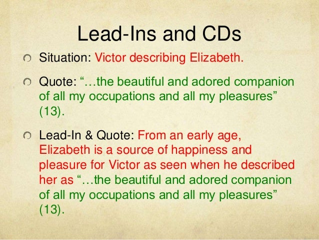 Lead Ins For Quotes Impressive Lead Ins For Quotes Simple Quoting In An Essay Rules Research