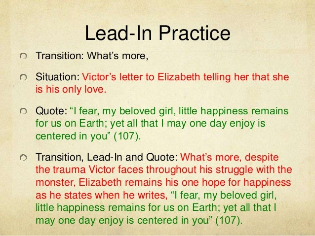 good lead ins for essays