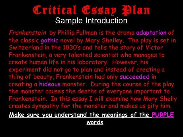 Frankenstein critical essay