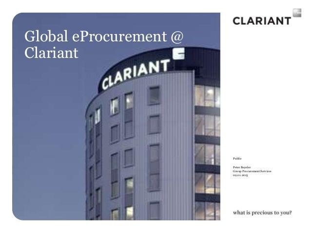 Global eProcurement @Clariant                        Public                        Peter Beyeler                        Gr...