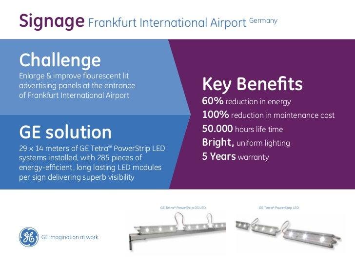 Frankfurt Airport lighting project by GE Lighting Europe