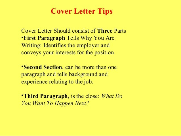 what do cover letters consist of - resume and cover letter tips that are sure to get you noticed