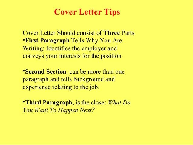 Cover Letter Tips ...
