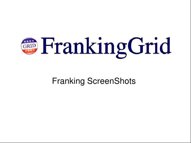 Franking ScreenShots<br />