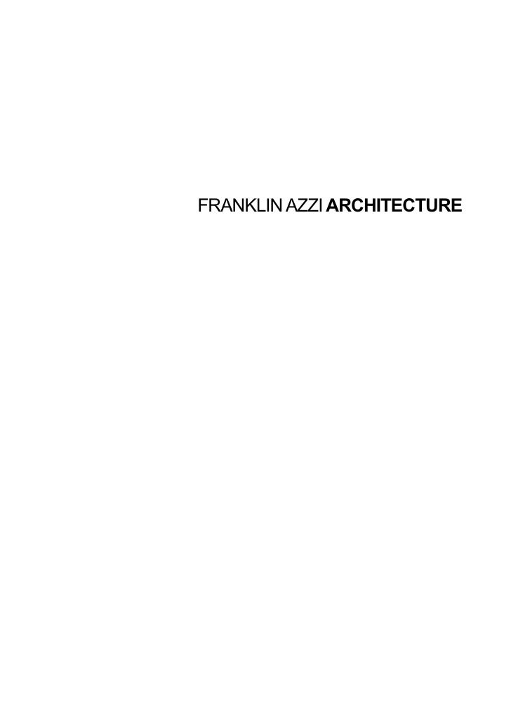 FRANKLIN AZZI ARCHITECTURE