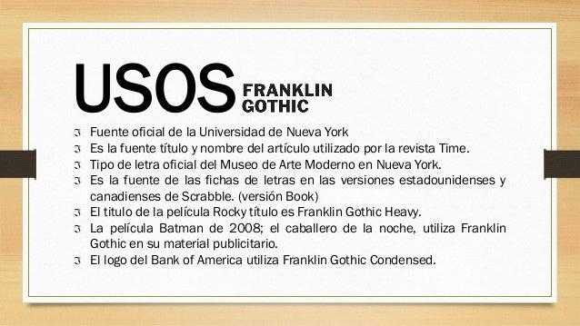 Tipografía Franklin Gothic